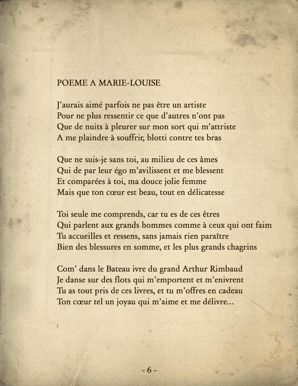 Poeme Pour La Femme De Ma Vie